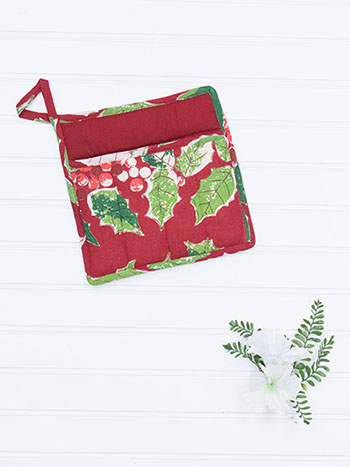 Jolly Holly Pocket Potholder