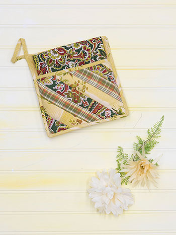 September Patchwork Pocket Potholder Set