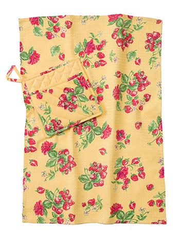Strawberry Pocket Potholder & Tea Towel Set
