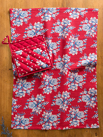 Willa Rose Pocket Potholder & Tea Towel Set