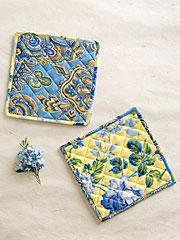 Provence Patchwork Potholder S/2