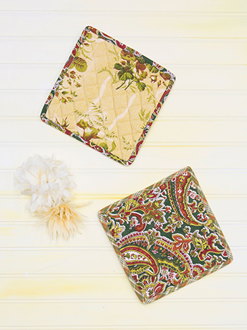 September Patchwork Potholder Set of 2