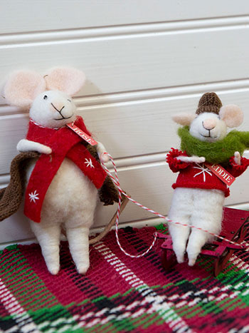 Rose & Baby Eddie Felted Mice