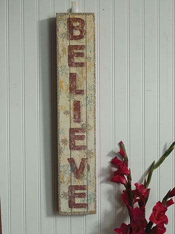 Wood Believe Box Sign