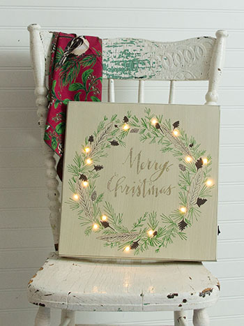 Wood LED Merry Christmas Sign