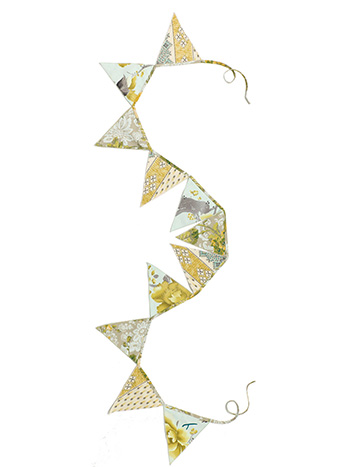 Citrine Patchwork Pennants