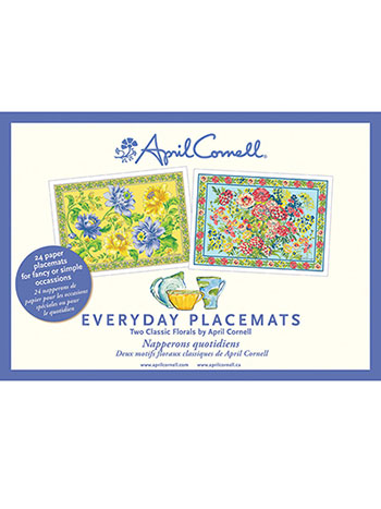Classic Florals Rosehip Placemat Set/24
