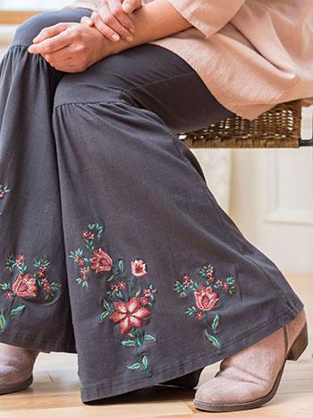 Tapestry Bell Bottom Legging