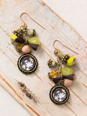 Victorian Ephemera Drop Earrings
