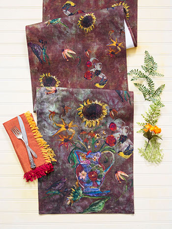 Autumn Visitors Table Runner