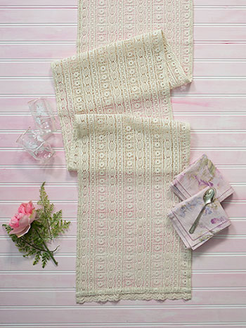 Lillian's Lace Embroidered Runner