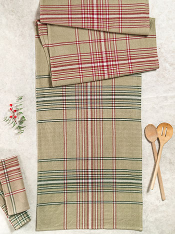 Homespun Christmas Plaid Runner