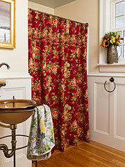 Tea Rose Shower Curtain - Brick