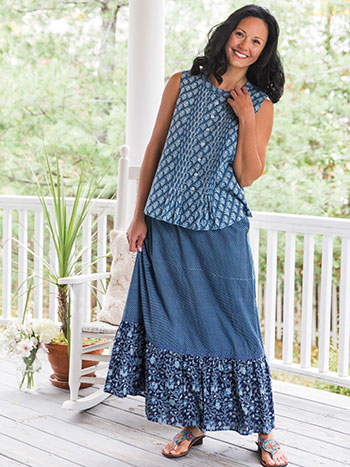 Indigo Diamond Skirt