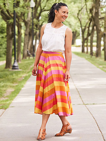 Fiesta Stripe Skirt