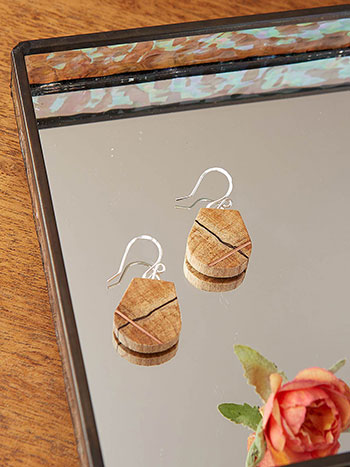 Mini Finn Inlaid Copper Earrings