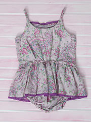 Sketch Paisley Girls Sunsuit