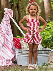 Fair Stripe Girls Sunsuit