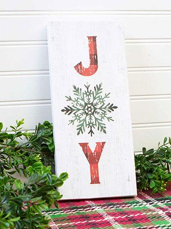Joy Wood Sign
