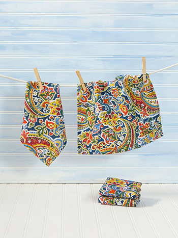 Priscilla's Paisley Tiny Set of 4