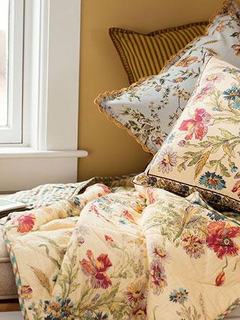 April Cornell Quilts Floral Patchwork Quilt Cotton