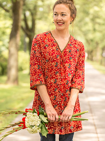 Pomegranate Flower Tunic