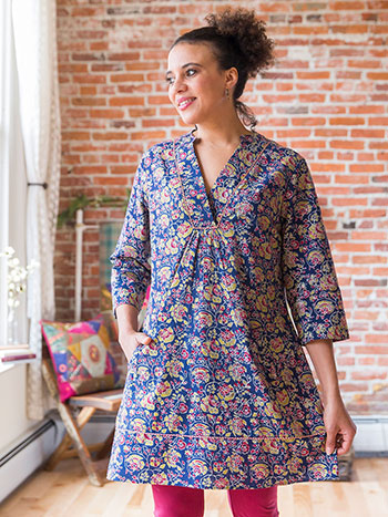 Jaipuri Rose Tunic