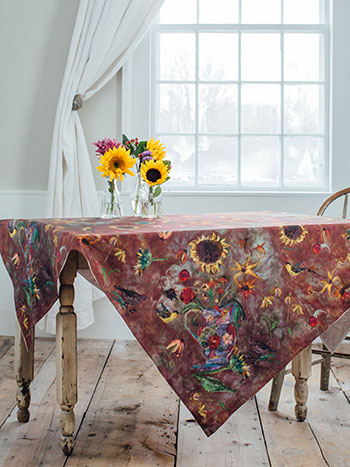 Autumn Visitors Tablecloth
