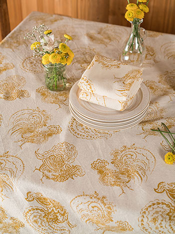 Backyard Rooster Tablecloth