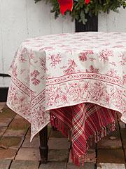 Christmas Botanical Tablecloth