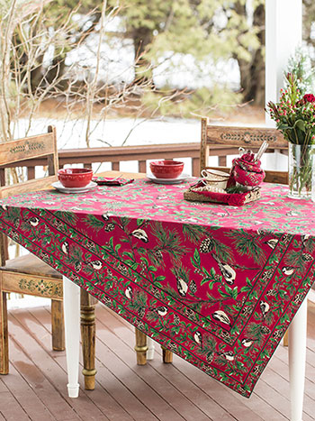 Chickadee Tablecloth