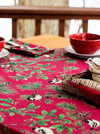 Chickadee Tablecloth