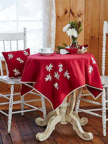 Festive Embroidered Topper Cloth
