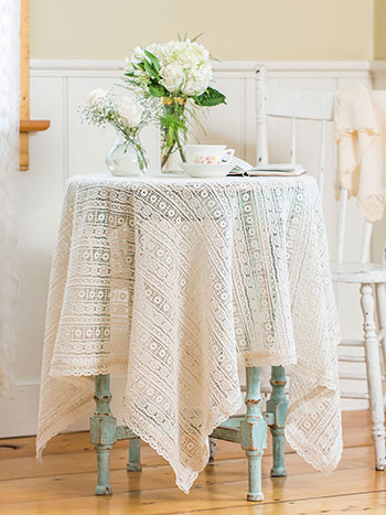 Lillian's Lace Topper Cloth