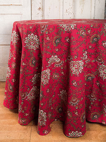 Empress Paisley Round Tablecloth