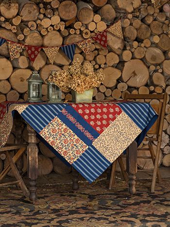 Flea Market Patchwork Tablecloth