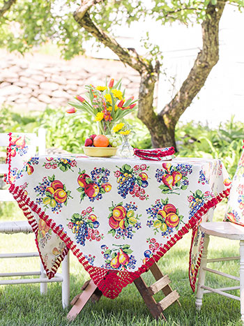 Fruit Basket Tablecloth