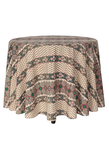 French Lotus Round Tablecloth