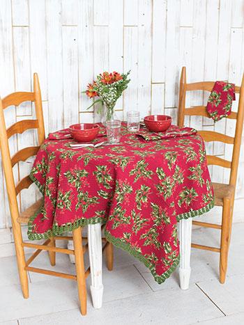 Holly Honeycomb Tablecloth