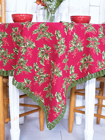 Holly Honeycomb Tablecloth