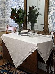 Luxurious Linen Jacquard Tablecloth - Linen