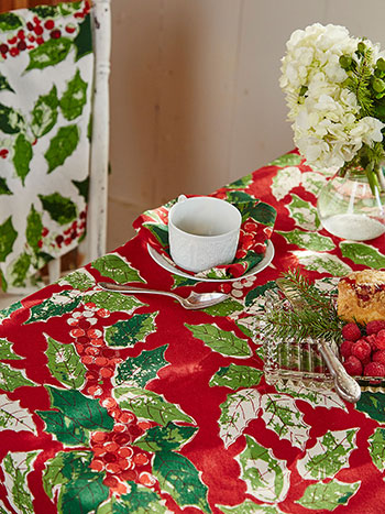 Jolly Holly Tablecloth