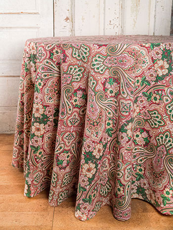 Kashmere Paisley Round Cloth