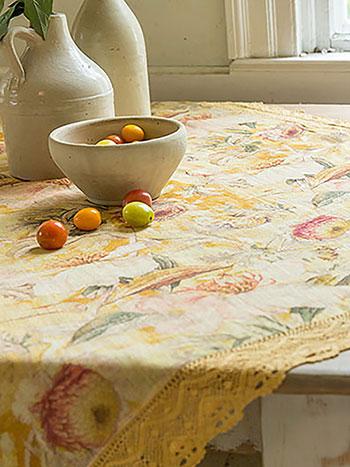 Beckoning Bocas Linen Tablecloth