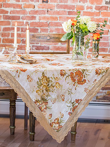 Conservatory Linen Tablecloth