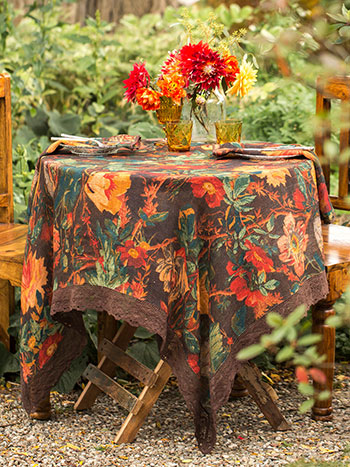 Gorgeous Garden Linen Tablecloth