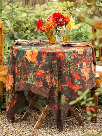 Gorgeous Garden Linen Tablecloth