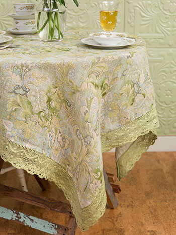 Jacob's Court Linen Tablecloth