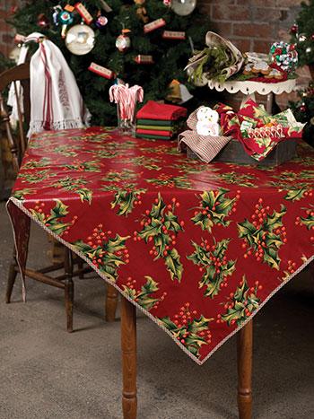 Holly Oilcloth Tablecloth
