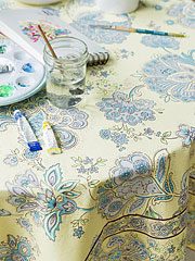 Playful Paisley Tablecloth